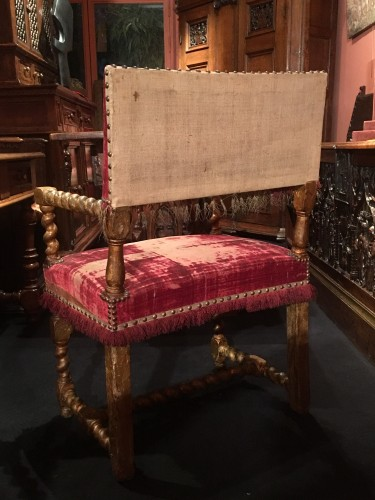 Seating  - Louis XIII gilt wood armchair
