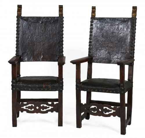 Set of two spanish chairs