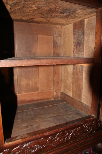 French Second Renaissance red walnut cabinet -