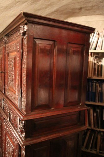<= 16th century - French Second Renaissance red walnut cabinet
