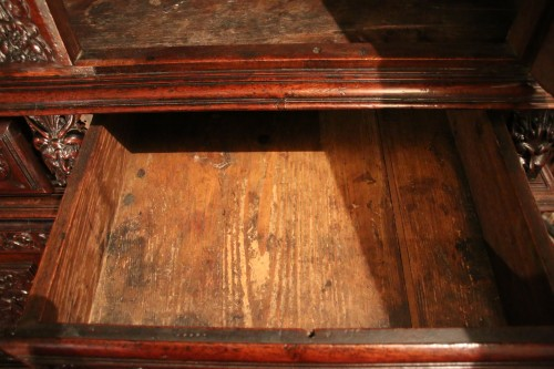 Antiquités - French Second Renaissance red walnut cabinet