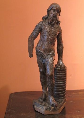 Sculpture  - Wood sculpture representing a wild man