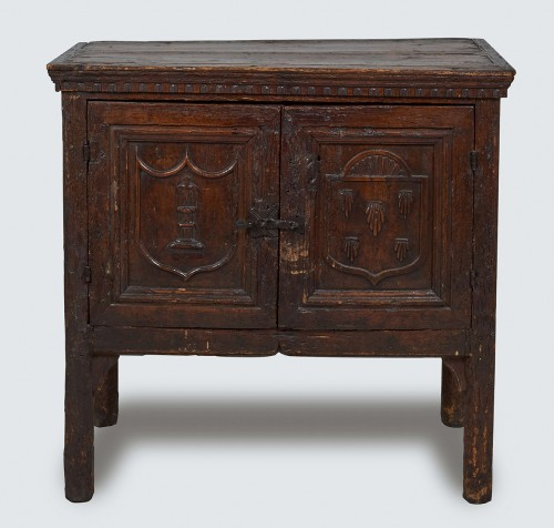 Rare Gothic sacristy cabinet - Furniture Style Middle age