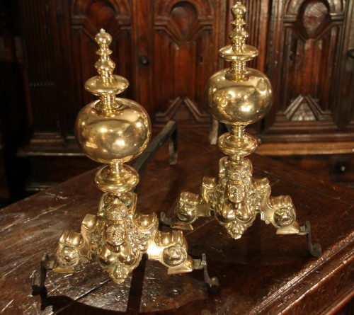 Decorative Objects  - Pair of andirons