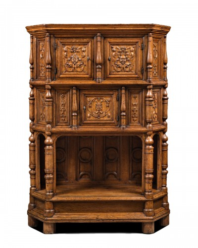 Renaissance Cabinet with a scroll and candelabra decor