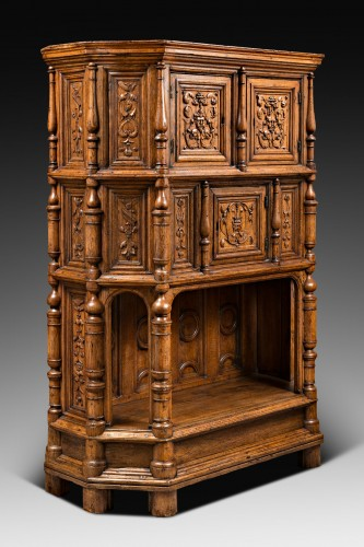 Furniture  - Renaissance Cabinet with a scroll and candelabra decor
