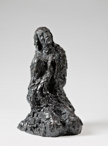 Christ on the Mount of Olives - Edmond Moirignot  (1913-2002) - Sculpture Style 50