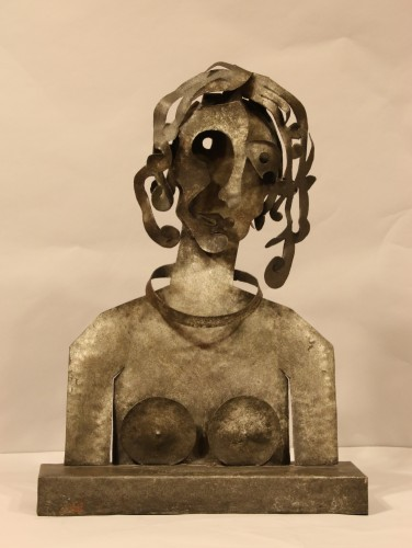 Woman, cutted iron sculpture by Blasco-Ferrer -