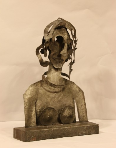 20th century - Woman, cutted iron sculpture by Blasco-Ferrer