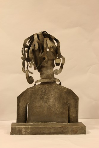 Woman, cutted iron sculpture by Blasco-Ferrer - 50