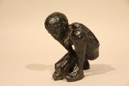 Sculpture  - The ball player - Edmond Moirignot  (1913-2002)