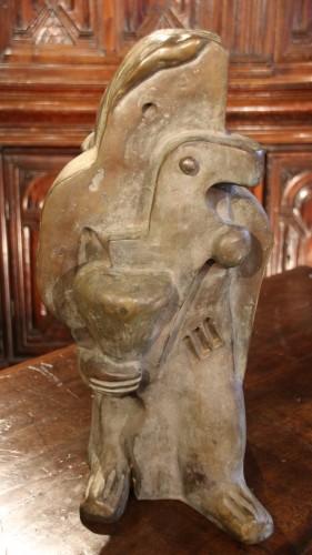 Sculpture  - Woman with a bird, monogrammed WM dated 1931