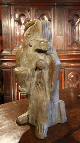 Woman with a bird, monogrammed WM dated 1931 -