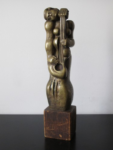 Woman with Guitar - Sculpture Style