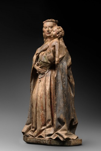 Burgundian Virgin and Child - Sculpture Style Middle age