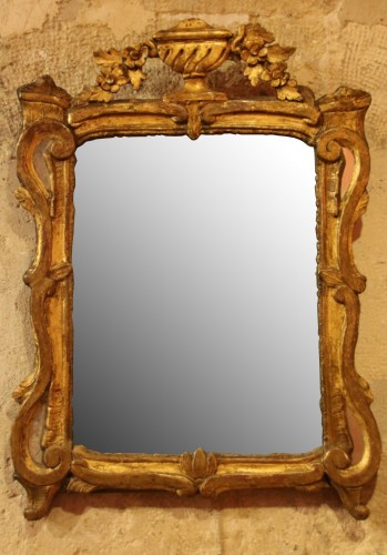 Beautiful gilt wood mirror with parcloses - Mirrors, Trumeau Style
