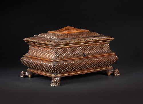 Important Renaissance italian jewellery chest - Furniture Style