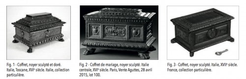 Important Renaissance italian jewellery chest -