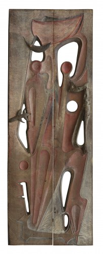Monumental door, 1969 -  Gilbert De Smet - Architectural & Garden Style