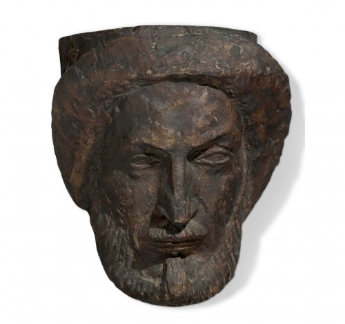 Antoine Bourdelle (1861-1929) - Self-portrait of the artist at 60 years old - Sculpture Style