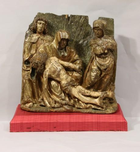 Sculpture  - A Gothic flemish Lamentation group