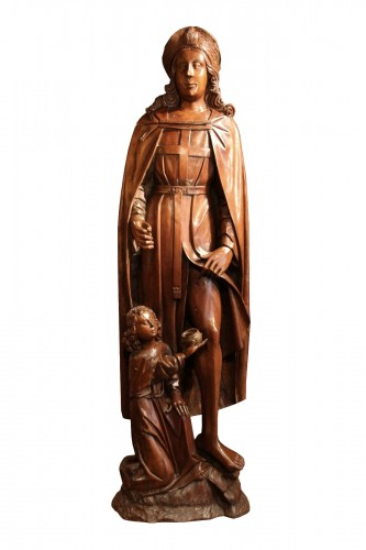 Wood figure of Saint Roch