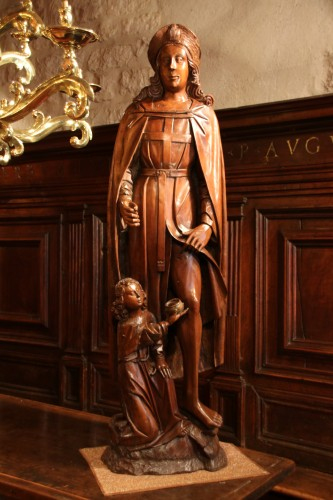 Wood figure of Saint Roch - Sculpture Style