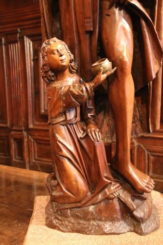 Wood figure of Saint Roch -