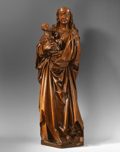 Gothic Virgin and Child - Sculpture Style Middle age