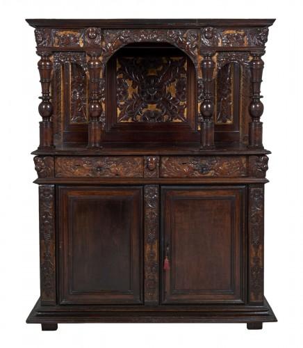 Henri IV carved walnut credenza
