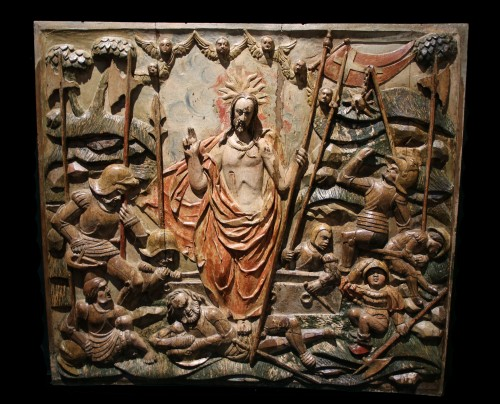 Exceptional Sculpture depicting the Resurrection of Christ - Sculpture Style