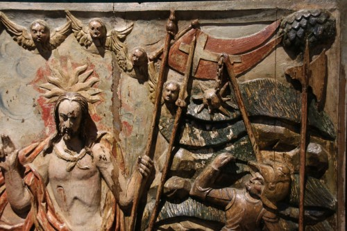 Exceptional Sculpture depicting the Resurrection of Christ -