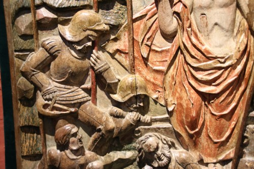 Antiquités - Exceptional Sculpture depicting the Resurrection of Christ