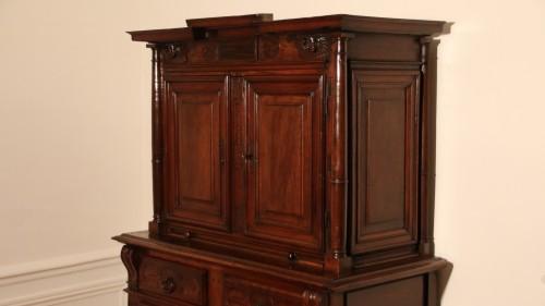 Red walnut Renaissance two-bodies cabinet - Renaissance
