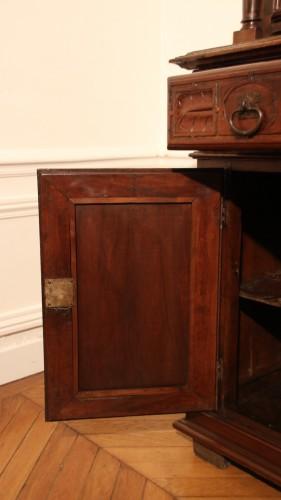Renaissance - Red walnut Renaissance two-bodies cabinet