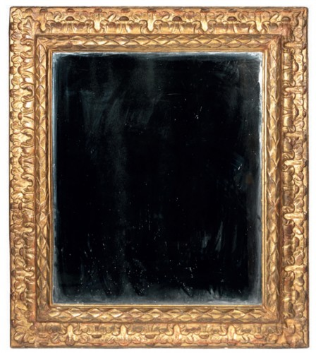 Large carved and gilt wood frame - Mirrors, Trumeau Style