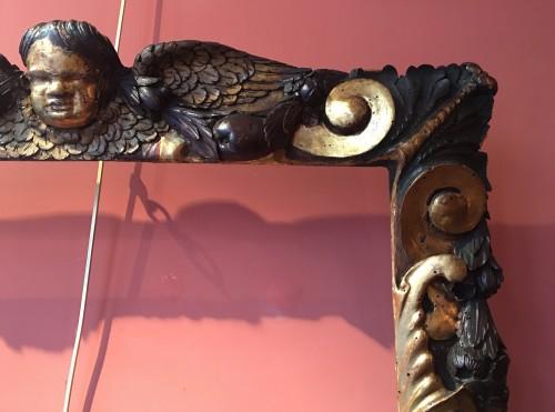 Renaissance - Rare partly gilt carved wood frame