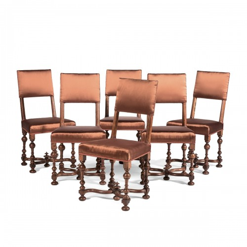 Set of six Louis XIII chairs