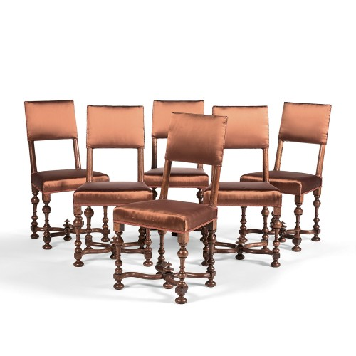 Set of six Louis XIII chairs - Seating Style Louis XIII