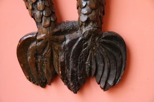 Carved wood bracket depicting a mermaid -