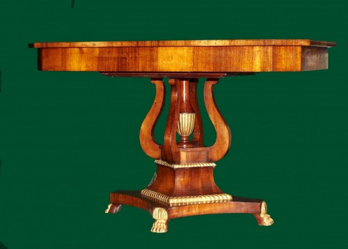 A Russian mahogany and gilt wood Center Table, circa 1830  - Furniture Style Restauration - Charles X