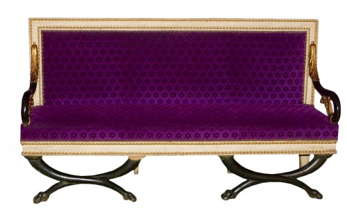 A pair of Neo-classic Sofas, Italy 1830