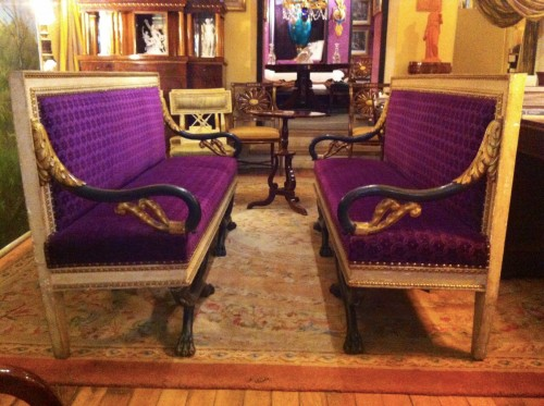 Seating  - A pair of Neo-classic Sofas, Italy 1830