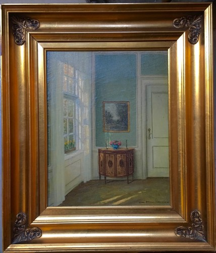 Danish Interiors with a commode - Paintings & Drawings Style
