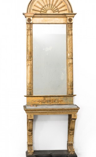 Consoltable and  mirror Gustavian period, Sweden
