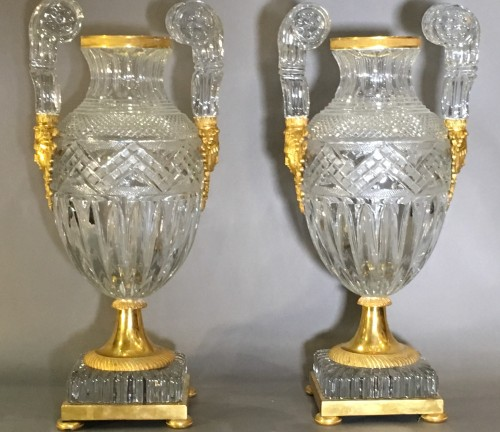 Pair of Russian Imperial Vases - Decorative Objects Style
