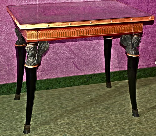 Central Table, replica from Pavlovsk Palace Eglomised top - Furniture Style