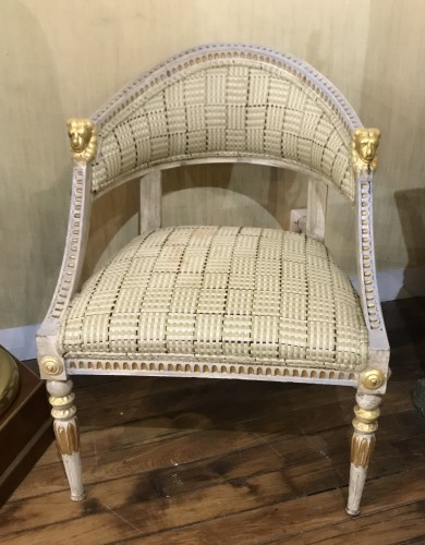 Seating  - Set of 4 Gustavian style  armchairs .Sweden, end XIX th cent.
