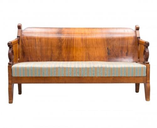 Large Russian sofa Cuban Mahogany circa 1830