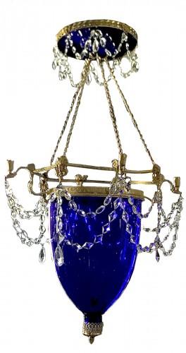 Russian Lanterne cobalt blue gilet bronze